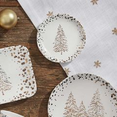 Golden Pines Appetizer Plate Set of 4