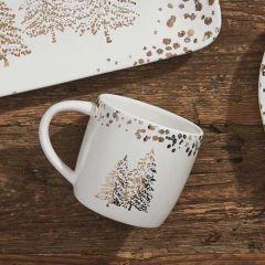 Golden Pines Coffee Mug Set of 4