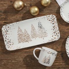 Golden Pines Holiday Serving Platter