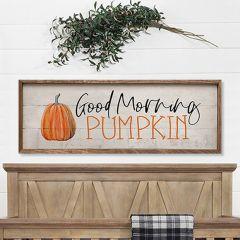 Good Morning Pumpkin Fall Wall Decor