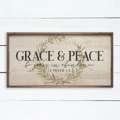 Grace And Peace 2 Peter Wreath Whitewash Wall Art