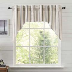 Grain Sack Stripe Prairie Swag Curtain Set of 2