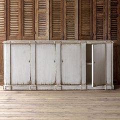 Grandiose Distressed White Sideboard Buffet | SHIPS FREE