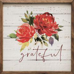 Grateful Fall Florals Framed Wall Art