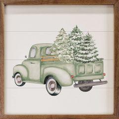 Green Tree Truck Wall Art