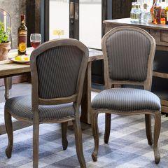 Grey Washed Oak Dining Chair Set of 2 Bundle