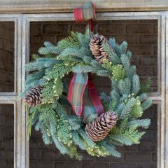 Handcrafted Mixed Evergreen Wreath