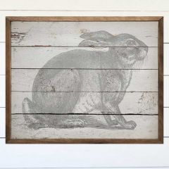 Handsome Hare Rustic Wall Art