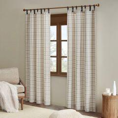 Handsome Tab Top Plaid Curtain Panel