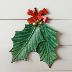 Hanging Holly Leaves Wall Decor