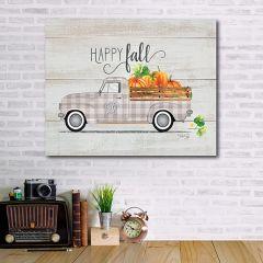 Happy Fall Vintage Truck Wood Pallet Wall Art