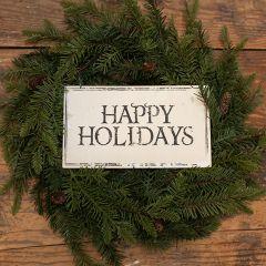 Happy Holidays Hanging Metal Sign Set of 3