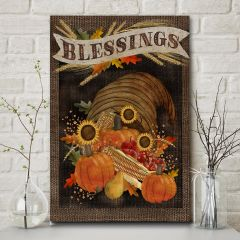 Harvest Blessings Canvas Wall Art