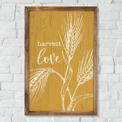 Harvest Love Framed Farmhouse Wall Decor