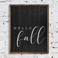 Hello Fall Rustic Farmhouse Wall Decor