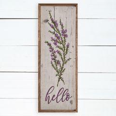Hello Lavender Framed Wall Decor