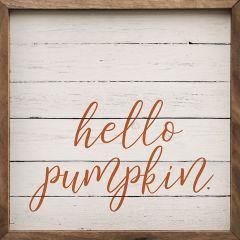 Hello Pumpkin Framed Wall Sign