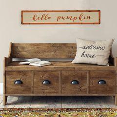 Hello Pumpkin Wall Sign