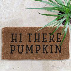 Hi There Pumpkin Natural Coir Doormat
