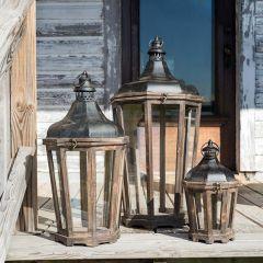 Hillcrest Candle Lanterns, Set of 3