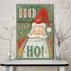 Ho Ho Ho Santa Canvas Wall Art