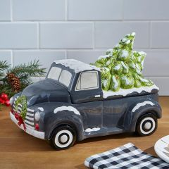 Holiday Accents Tree Truck Cookie Jar