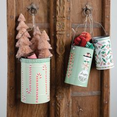 Holiday Buckets With Handles Set of 3