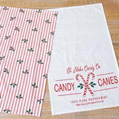 Holiday Farmhouse Festive Tea Towels Set of 2