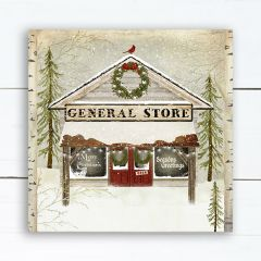Holiday General Store Wrapped Canvas Wall Art