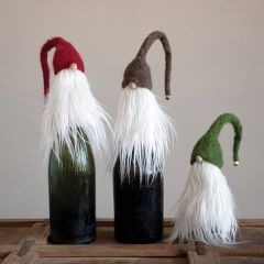 Holiday Gnome Bottle Topper Set of 3