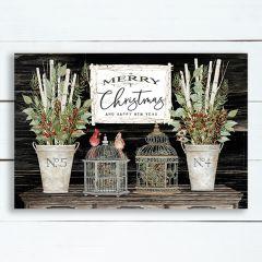 Holiday Greetings Canvas Wall Art