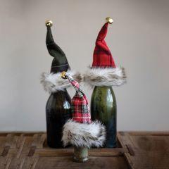 Holiday Hat Bottle Topper Set of 3