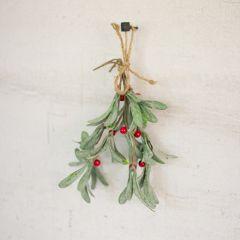 Holiday Mistletoe Spray Set of 6