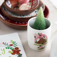 Holiday Patterns Stoneware Mug Set of 4
