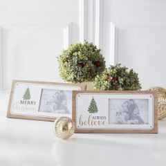 Holiday Photo Frame Plaque Set of 2