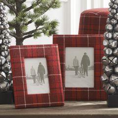 Holiday Plaid Photo Frame Set of 2