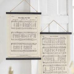 Holiday Sheet Music Wall Decor, Set of 2