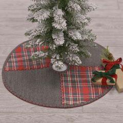 Holiday Tartan Plaid and Herringbone Tree Skirt 21 Inch