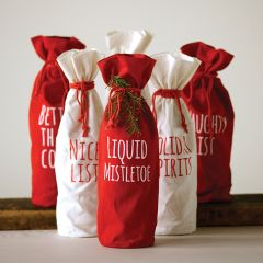 Holiday Wine Bags Set of 6