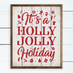 Holly Jolly Holiday Wall Sign