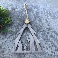 Holy Family Tree Creche Ornament Set of 3