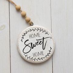 Home Sweet Home Beaded Farmhouse Ornament Set of 2
