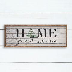 Home Sweet Home Christmas Tree Wall Sign