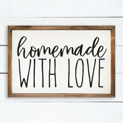 Homemade With Love Wall Sign