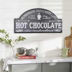 Hot Chocolate Advertisement Wall Sign