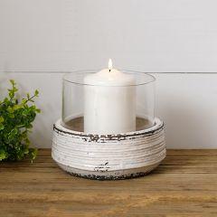 Hurricane Glass Ceramic Candle Holder