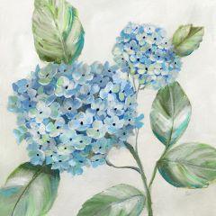 Hydrangea Stem Canvas Wall Art