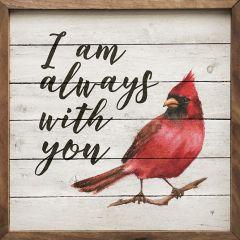 I Am Always With You Cardinal Wall Decor