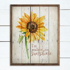 I'm Walking on Sunshine Framed Wall Art