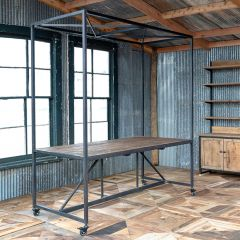 Industrial Farmhouse Work Table | SHIPS FREE